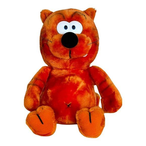 "Heathcliff the Cat Vintage 1986 15"" Plush Toy Stuffed Animal McNaught Syndicate"